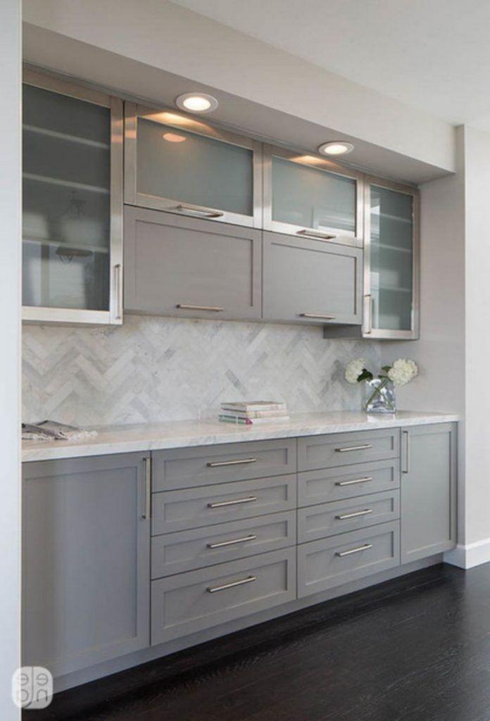 50 Outstanding Kitchen Backsplash Ideas Gray Cabinets Kitcheninteriordesi Kitchen Cabinets And Backsplash Backsplash With Dark Cabinets Grey Kitchen Cabinets