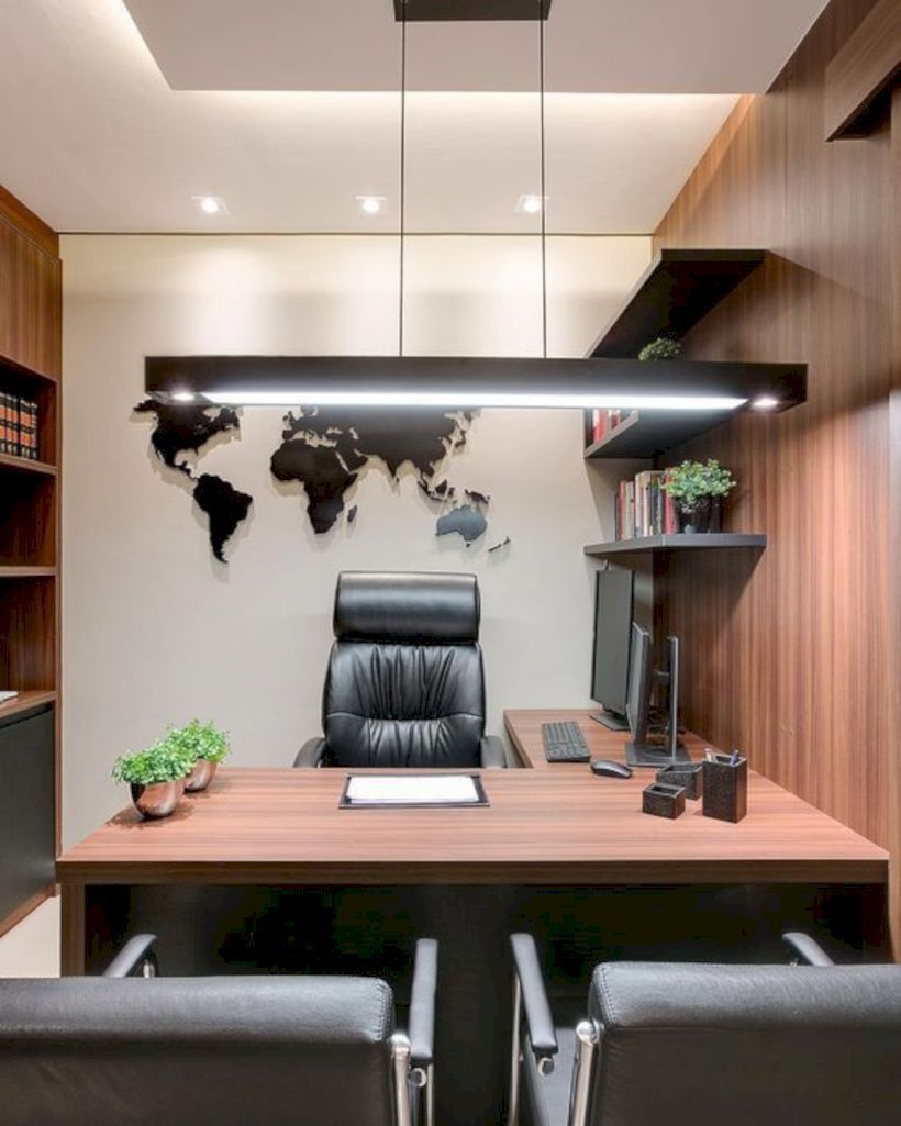 36 Affordable Home Office Decoration Ideas To Give You Chance To Do Some Business At Home Matchness Com Office Furniture Design Modern Office Interiors Office Table Design