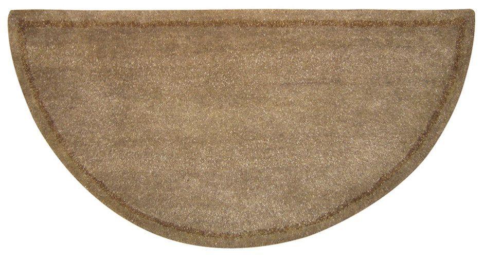 Uniflame Wool Fireplace Hearth Half Circle Rug Beige