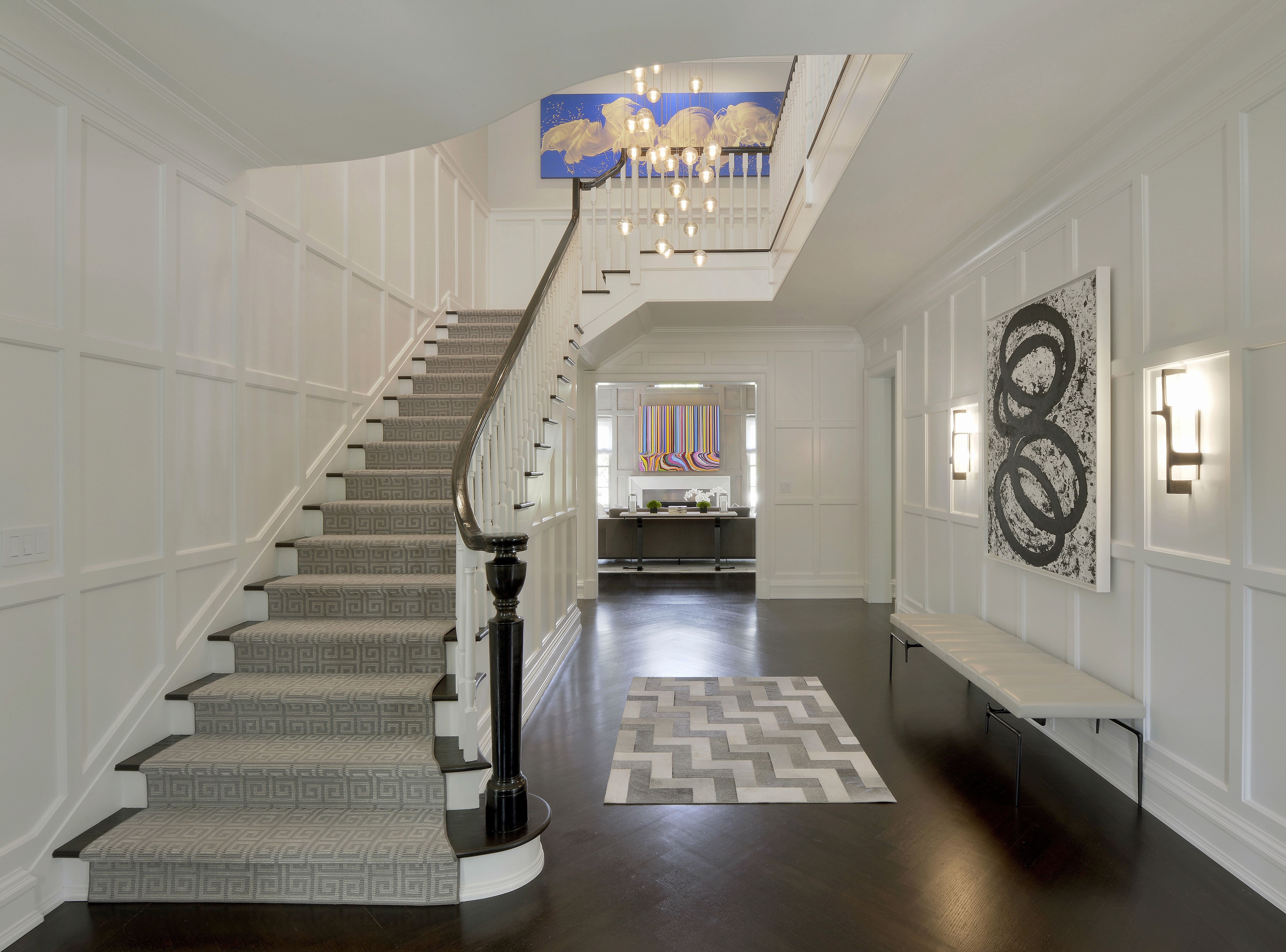 Best Stair Hall With Paneled Walls Staircase Design Modern Interior Staircase Stairs Architecture 400 x 300