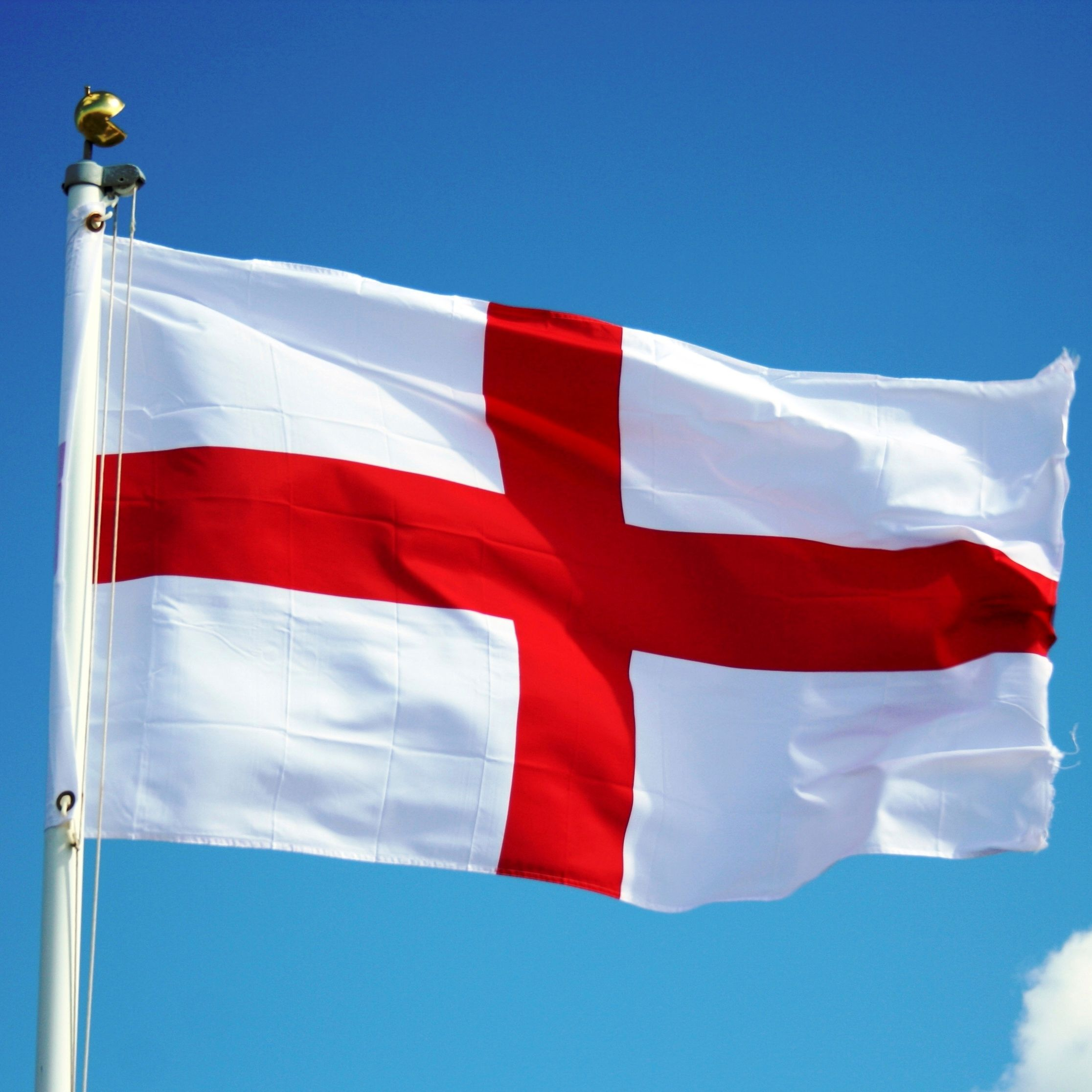 st george is known by his emblem of a red cross on a white