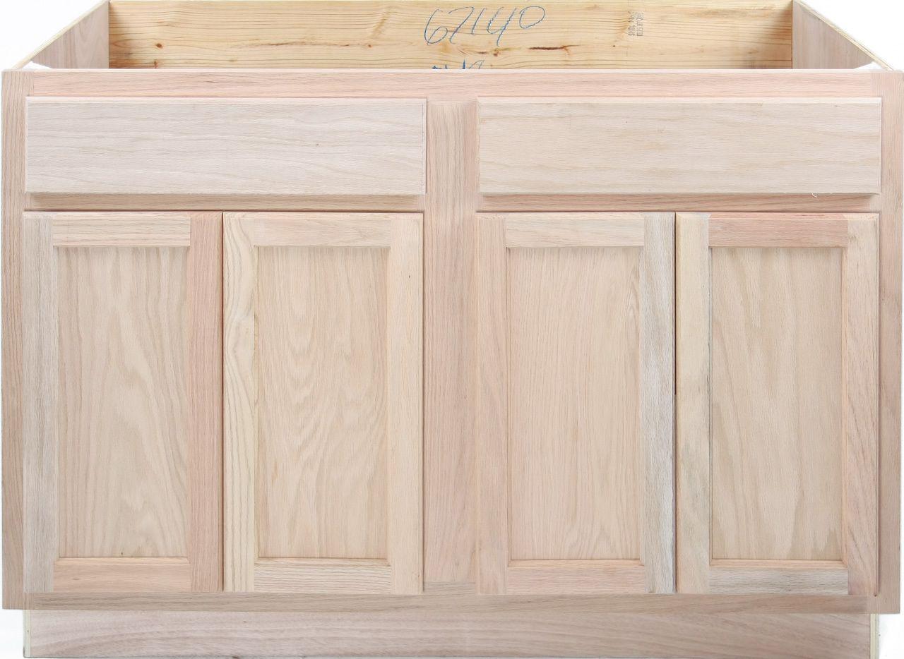 170 Kitchen Sink Base Unfinished Oak 48 Kitchen Cabinets