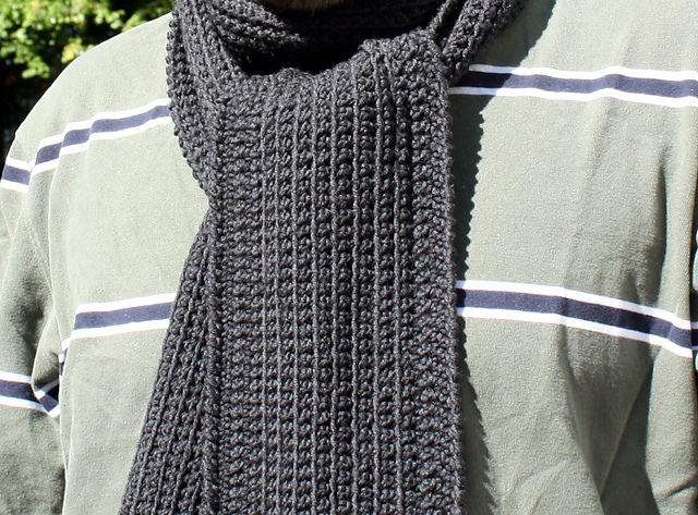 Dan S Minimalist Scarf Scarf Crochet Pattern Crochet Mens Scarf Men Scarf Pattern