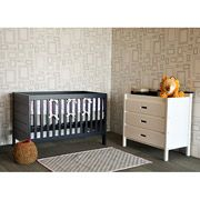 Baby Mod Modena 3 In 1 Fixed Side Crib Navy White