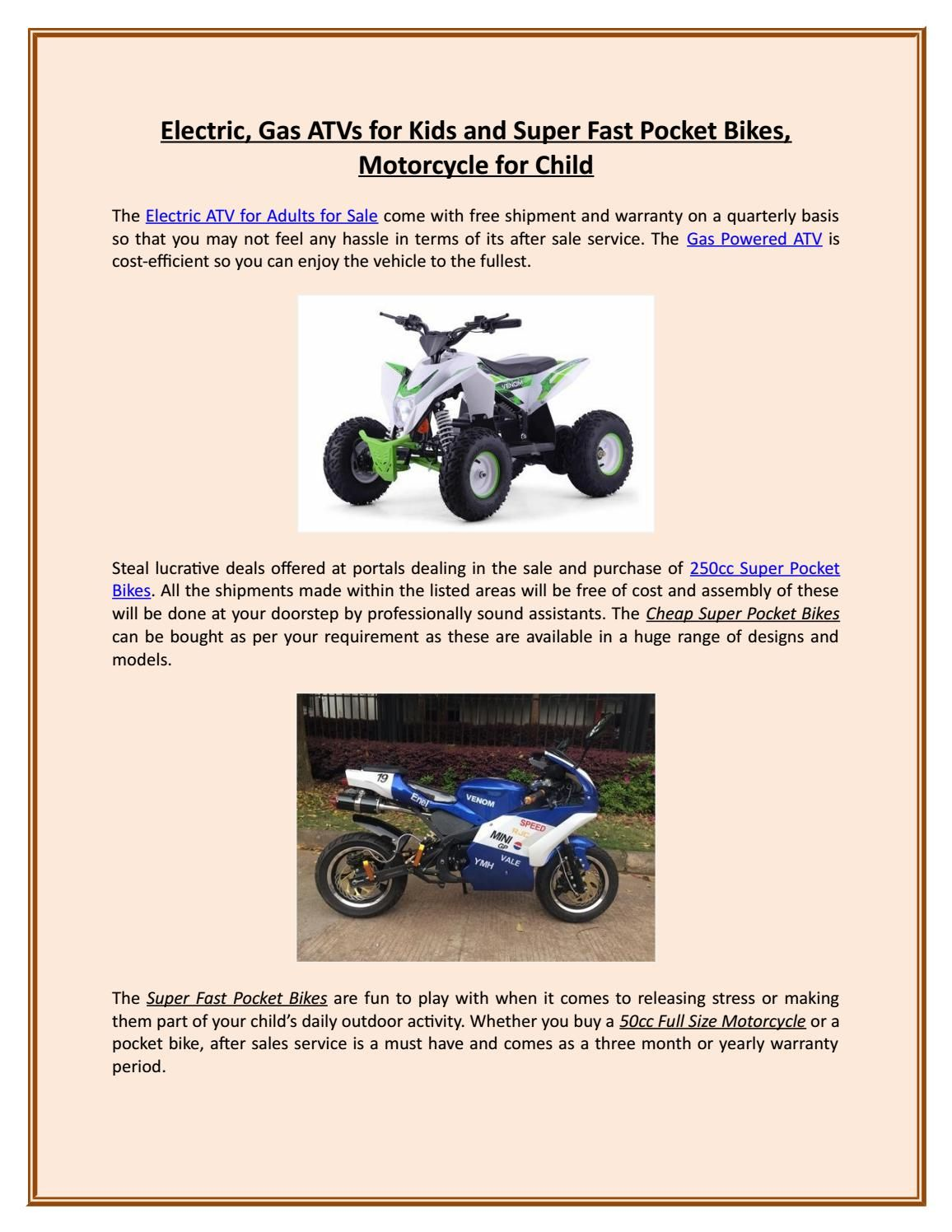 sale Motorcycles models for adult