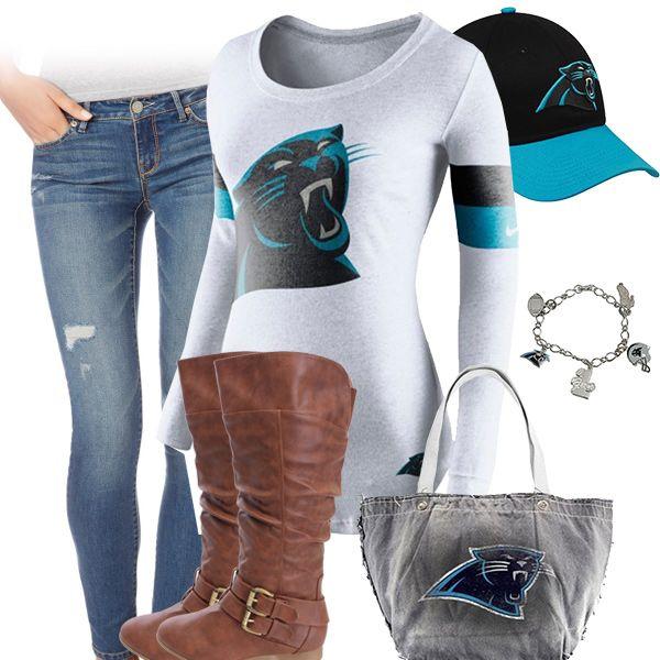 db4522ec Cute Carolina Panthers Outfit | Carolina Panthers Fashion, Style ...