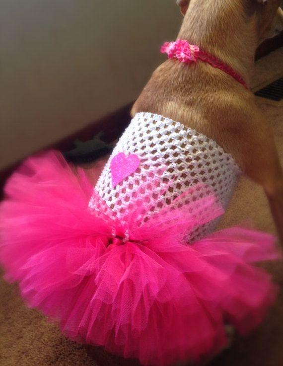 Valentine S Dog Dress Valentine S Day Pink And White Dog Tutu