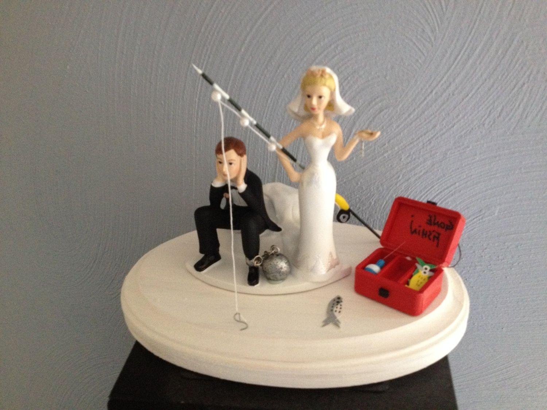 Fishing wedding cake topper etsy wedding cake topper