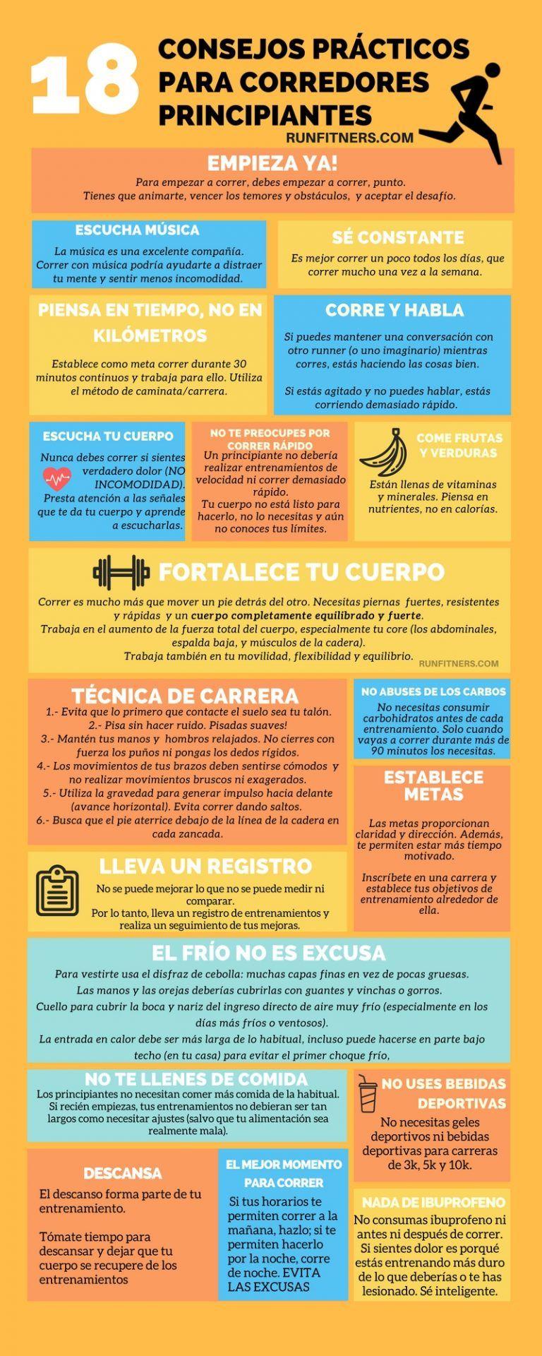 18 Consejos Prácticos Para Empezar A Correr Infografía Consejos Para Correr Empezar A Correr Beneficios De Correr