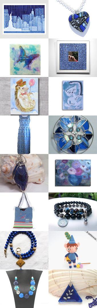 Unifies the season's blues! by Natasha on Etsy--Pinned with TreasuryPin.com