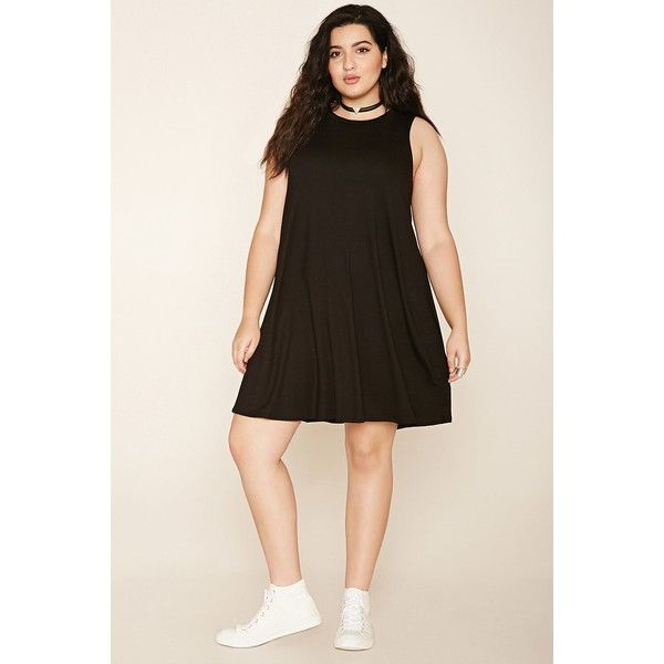 Forever 21 Plus Womenu0027s Plus Size Trapeze Dress ($13) ? liked on Polyvore featuring  sc 1 st  Pinterest & Forever 21 Plus Womenu0027s Plus Size Trapeze Dress ($13) ? liked on ...