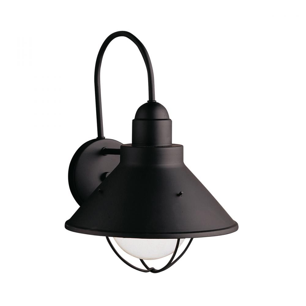 One Light Black Outdoor Wall Light, Seaside, Bronze - Olde Brick - 150 watts