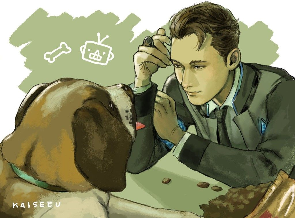 Detroit become human   DBH   Connor and Sumo   Detroit Become Human