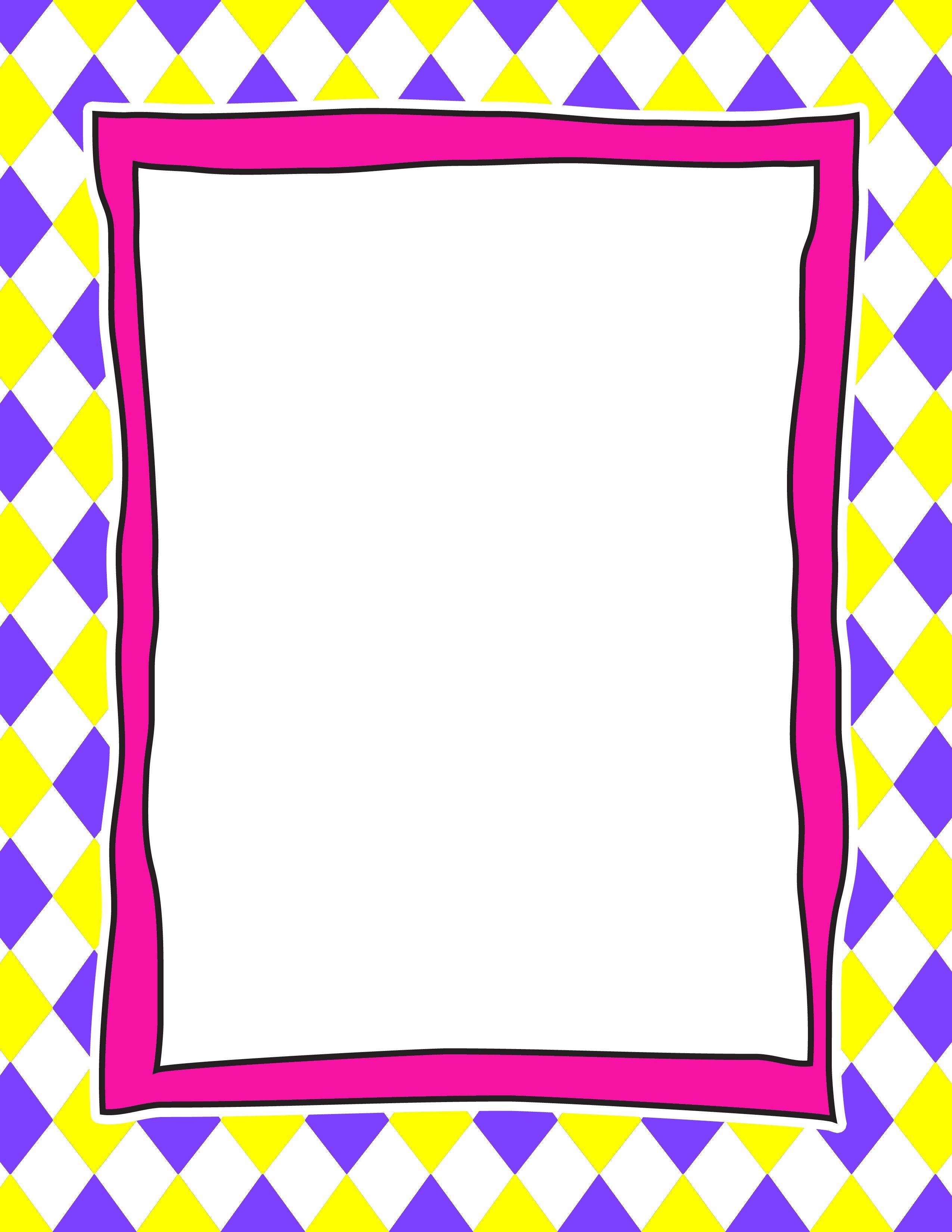 Frame Borders And Frames Letter Stationery Diy Calendar