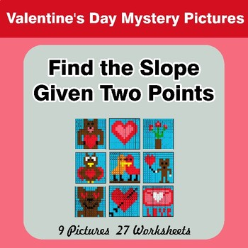 Find the Slope Given Two Points Valentine's Day Mystery
