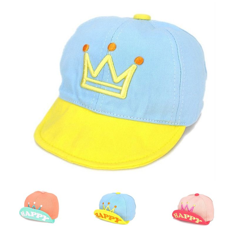 921afc307e5 Sale 21% (4.49 ) - Children Baby Kids Letter Crown Printed Baseball Cap Infant  Boys Girls Cotton Blend Snapback Sports Cap Hat