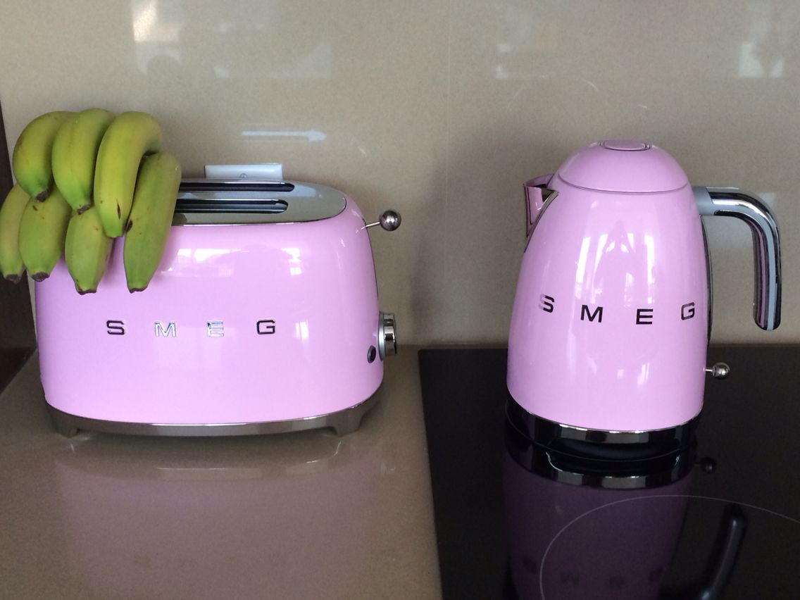 Pretty Pink Smeg Toaster And Kettle In 2019 Kettle