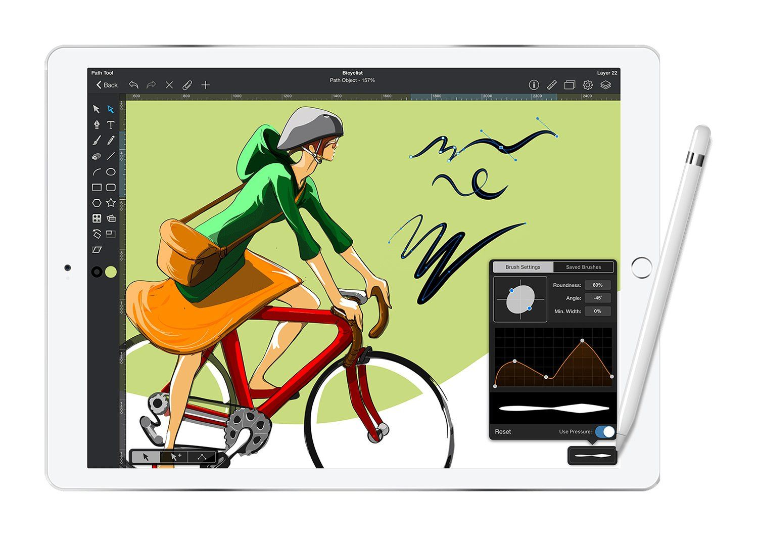 Maximize the drawing space on any device for greater detail