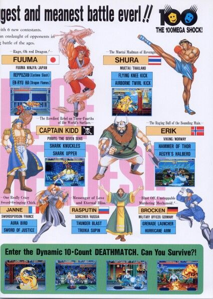 World Heroes 2 Personagens Anos 80 Jogos