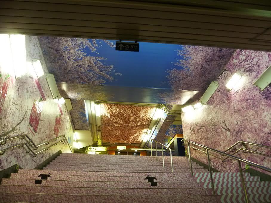 アサヒビール アサヒスーパードライ 東京メトロ上野駅 特殊展開