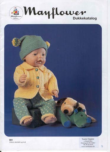 Pin af Rinnie Olsen på Babydukketøj | Dockmönster, Virkmönster og Dockor