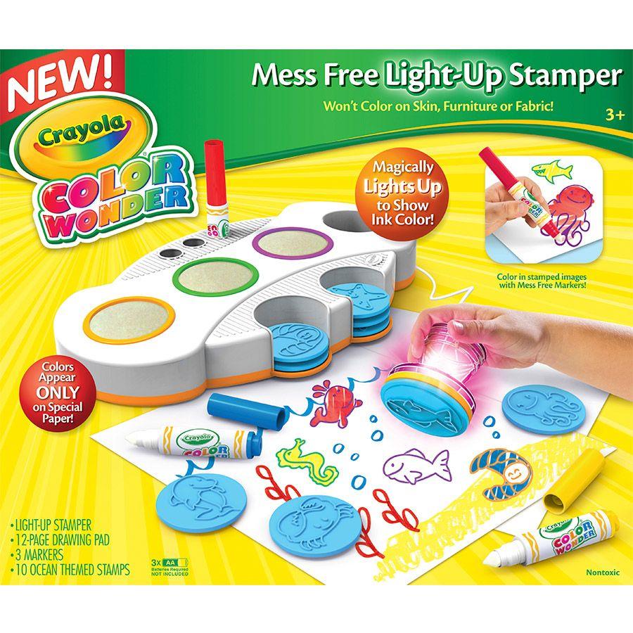 Craft kits for 3 year olds - Crayola Color Wonder Light Up Stamper Toys R Us Australia