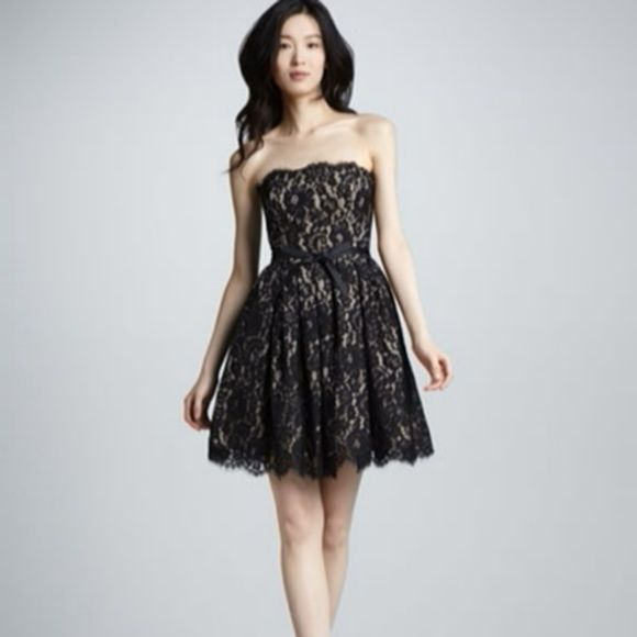 Neiman marcus black lace dress