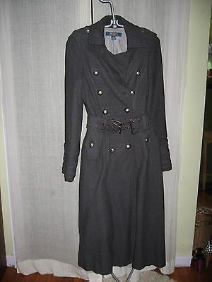 MILLARD FILLMORE MF-13 CHARCOAL GREY BOILED WOOL FUNKY COAT SIZE M