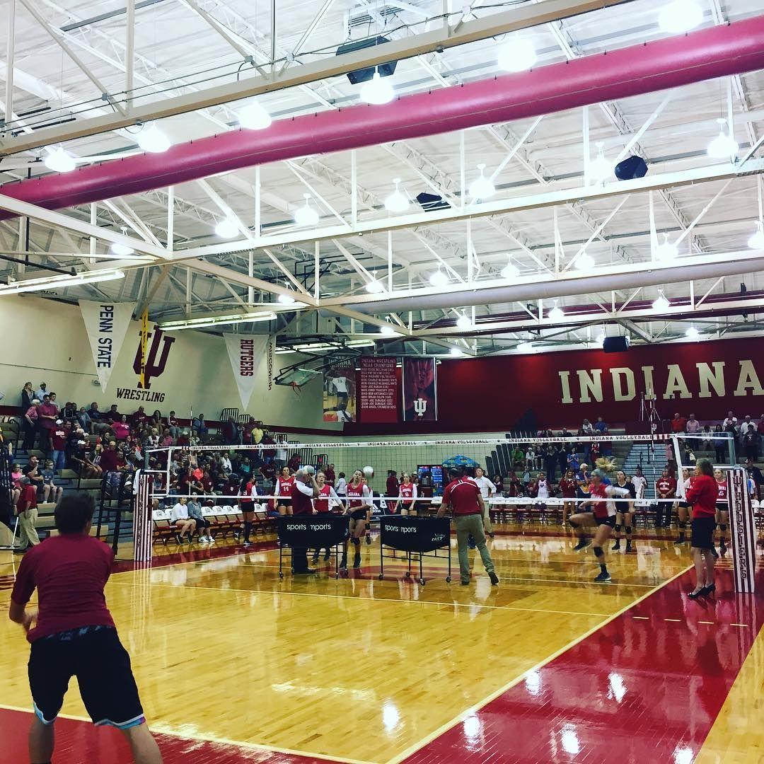 Repost Indiana University Volleyball Custom Volleyball Net System By Sports Imports Volleyball Net Indoor Volleyball Indiana University