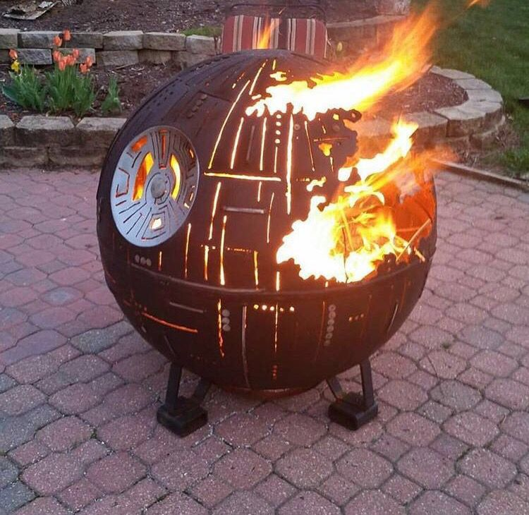 this deathstar star wars fire pit is really awesome. Black Bedroom Furniture Sets. Home Design Ideas