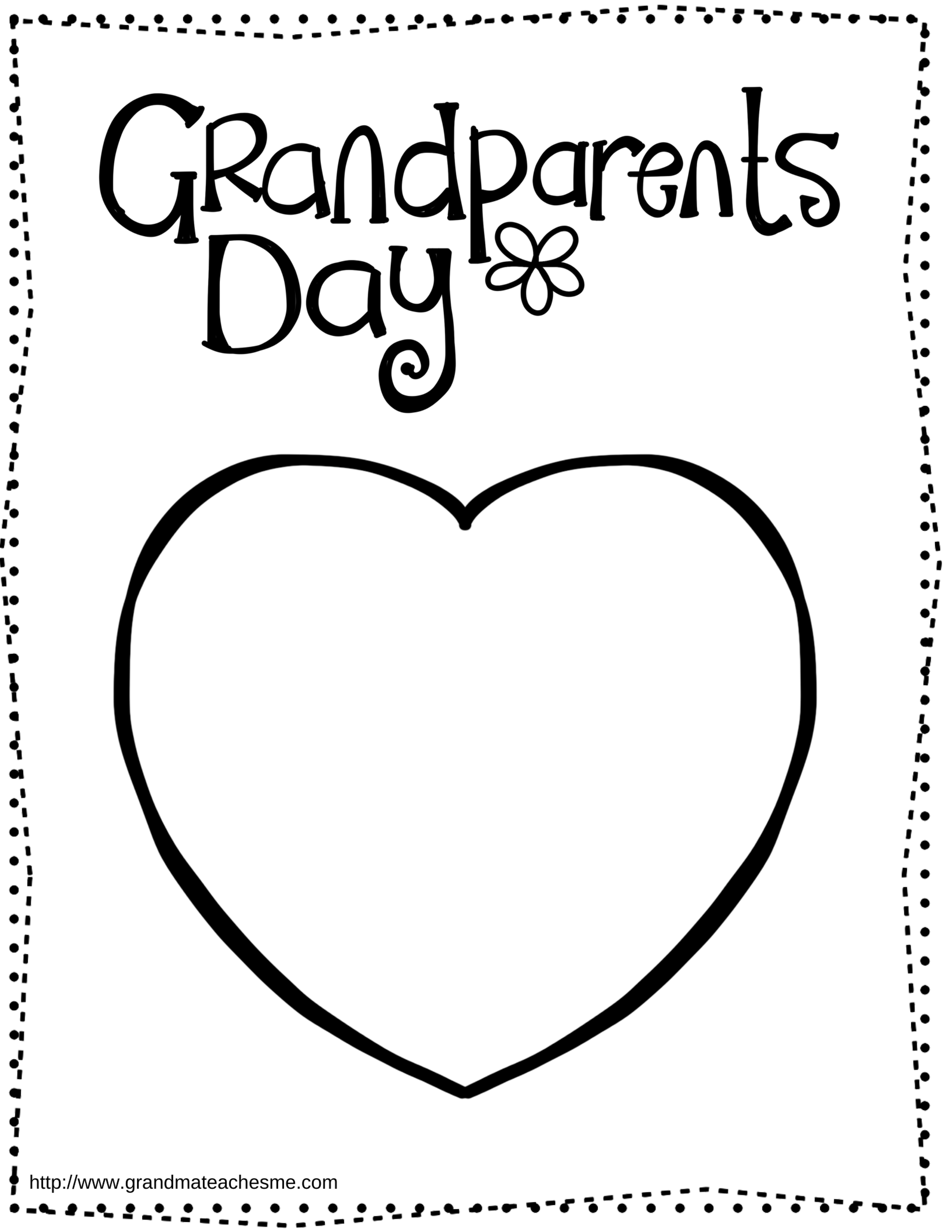 Grandparents Day Printable Gifts And Fun Activities Grandparents Day Heart Coloring Pages Printable Valentines Coloring Pages