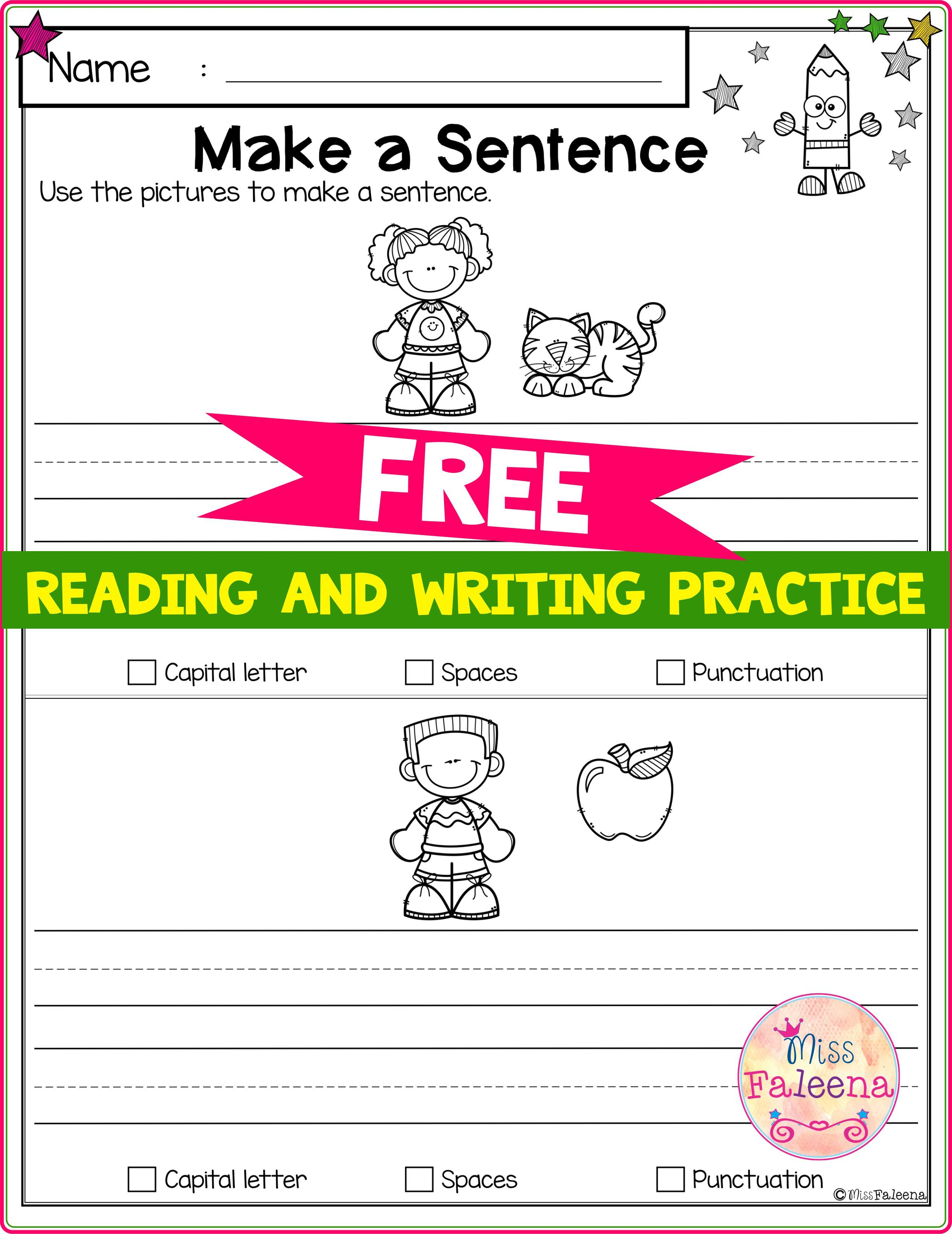 Free Reading And Writing Practice In