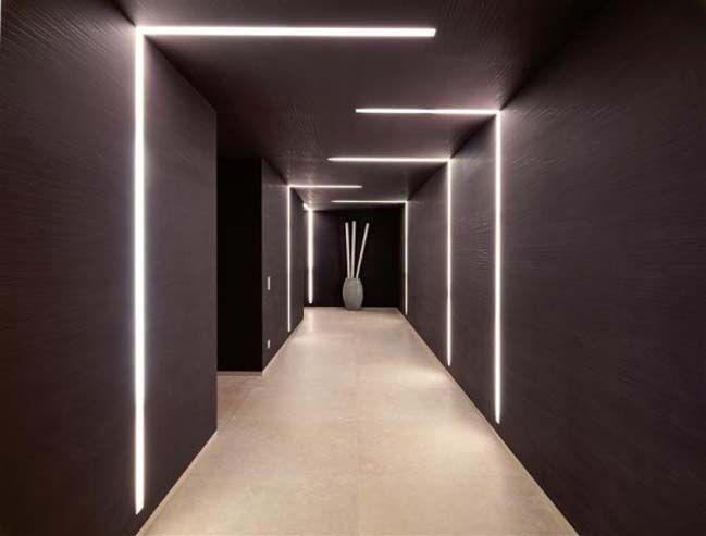Luxury Villa With Amazing Led Light Systems Lobby Design Interior Lighting Corridor Design