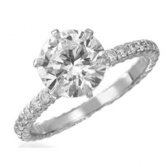 Memoire Engagement Ring 10 Stone (.45cts)