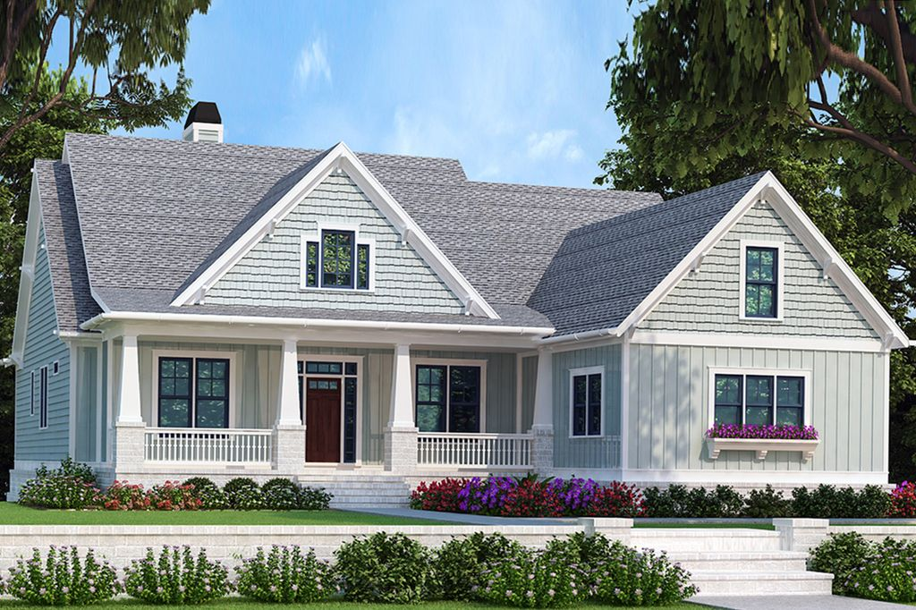 Bungalow Style House Plan 4 Beds 3 Baths 2336 Sq Ft Plan 927 418 In 2020 Bungalow Style House Plans Craftsman House Plans House Plans