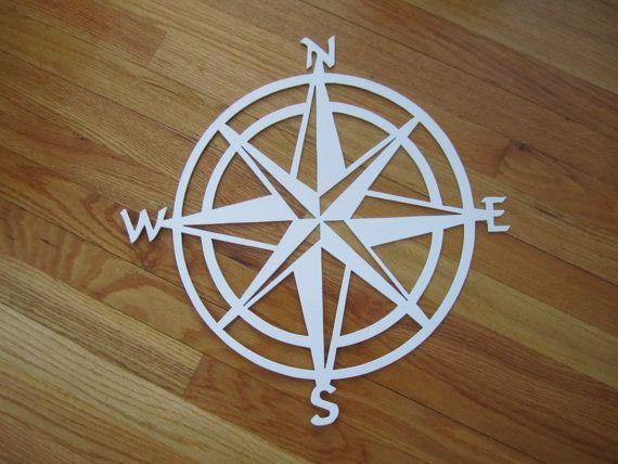 "Nautical COMPASS ROSE  WALL ART DECOR copper//bronze plated 36/"""