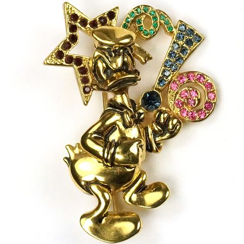 Disney by Napier Angry Donald Duck with Blanked out Word Pin