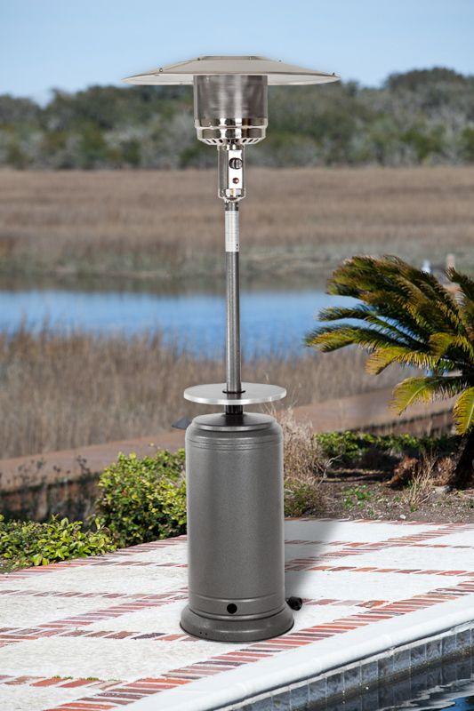 Hammer Tone Silver Standard Series Patio Heater Adjustable Table