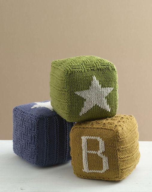 Knitted Baby Blocks