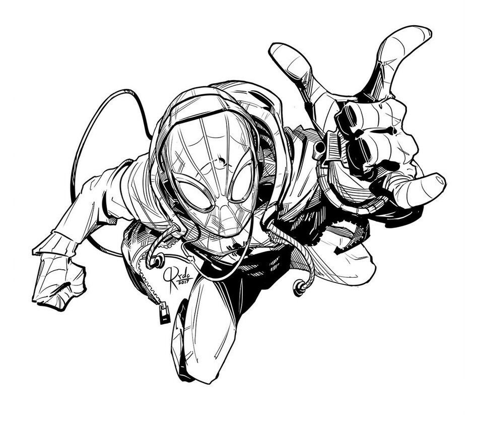 spiderman coloring pages miles morales | Pin by mr.majic on Spiders | Spectacular spider man ...