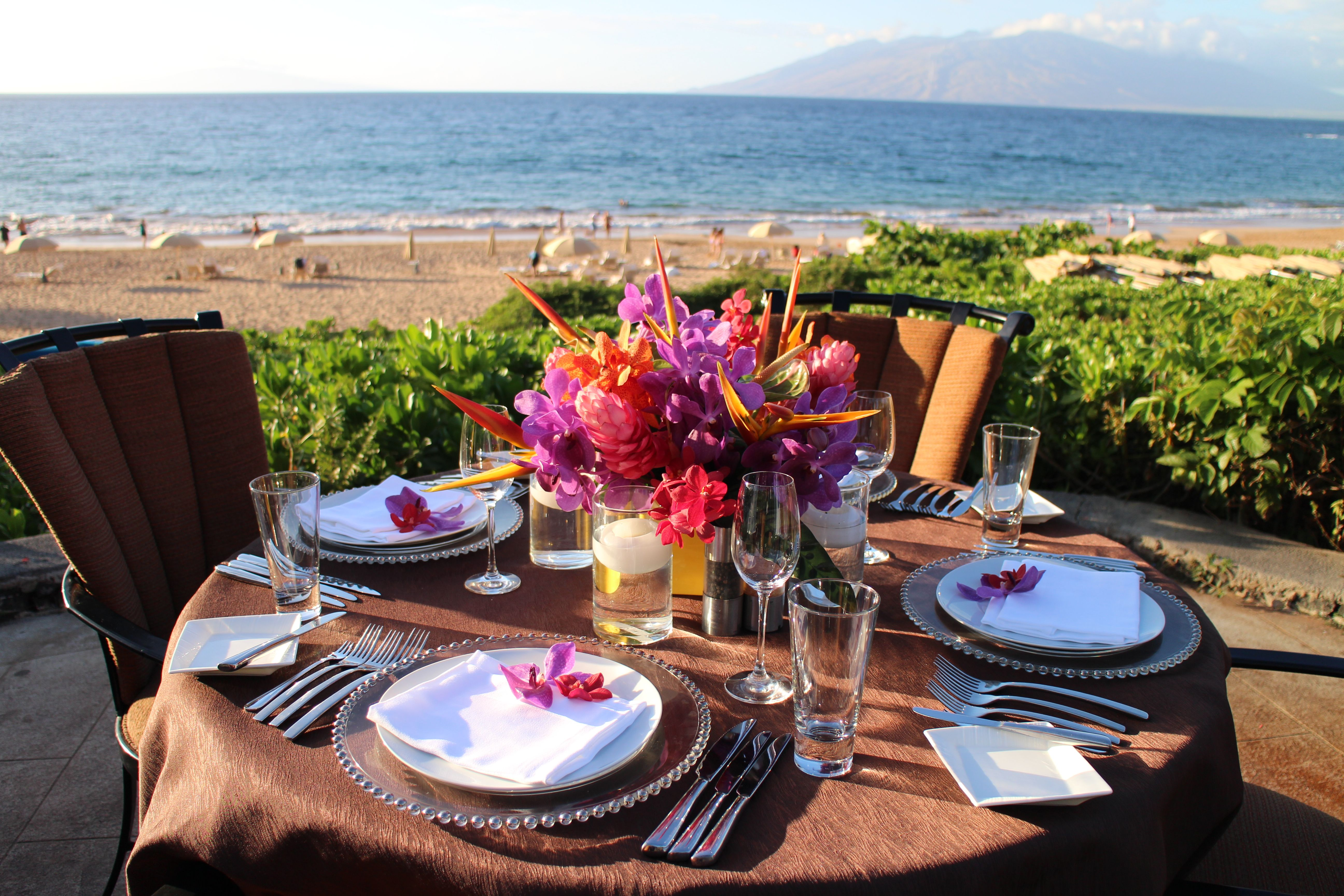 Four Seasons Resort Maui At Wailea Offers Couples And Families The Chance  To Enjoy Private Dining And Ocean Front View With The Ultimate Dinner  Experience.