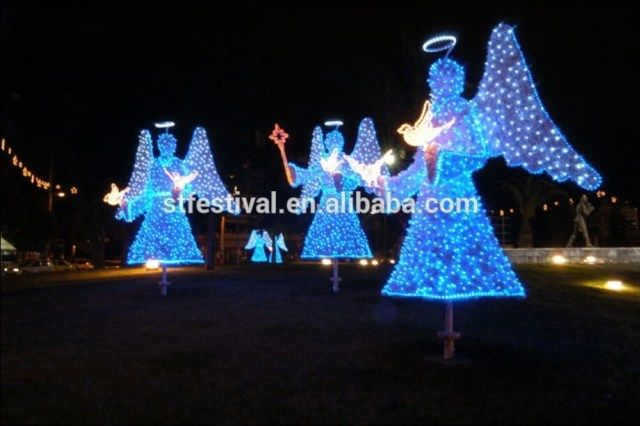 large lighted outdoor christmas ornaments