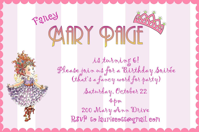 Fancy Nancy Birthday Invitations Gallery - Invitation Templates Free ...