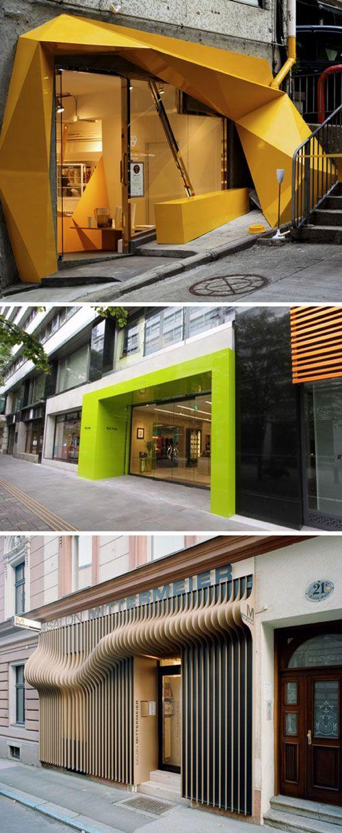 I Love These Entrances Store Facade Design Shop