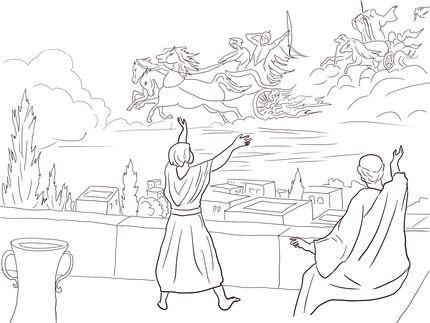 Click to see printable version of Elisha Invisible Army coloring page