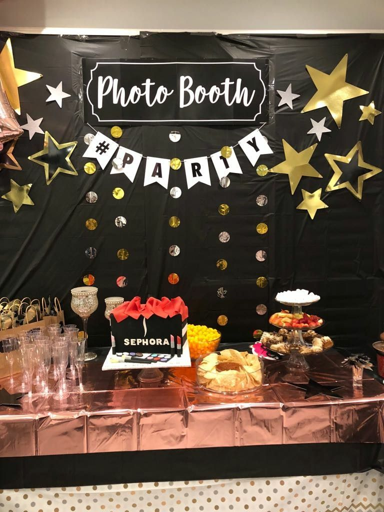 Gold Silver Black White Balloon Stand Black And Gold Party