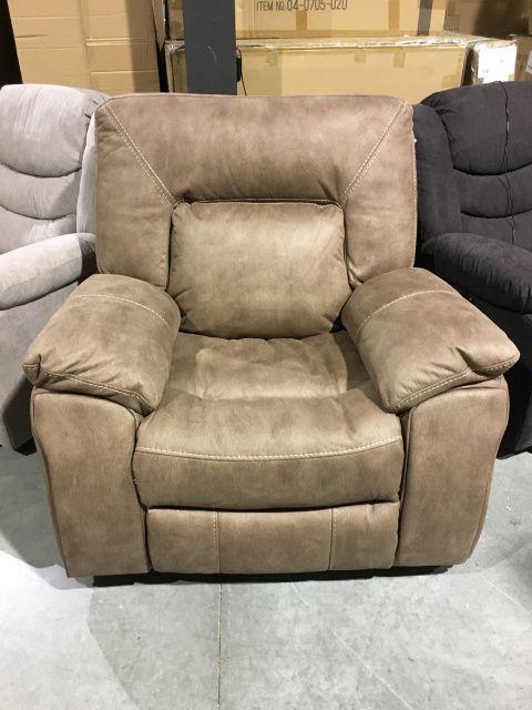 big mans chair legless floor australia driftwood suede power wallhugger recliner man s 599 00