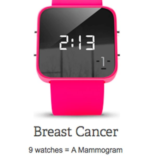 Show your support by wearing this cool looking watch that benefits #charity. #1Facewatch - #BREASTCANCER - $40.00 | It's Complementary - Scottsdale, AZ