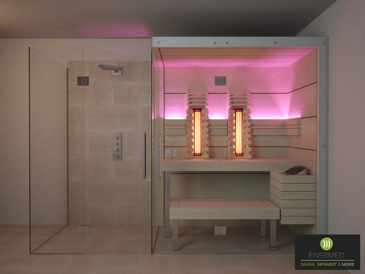 mini sauna sauna mit dusche sauna im badezimmer. Black Bedroom Furniture Sets. Home Design Ideas