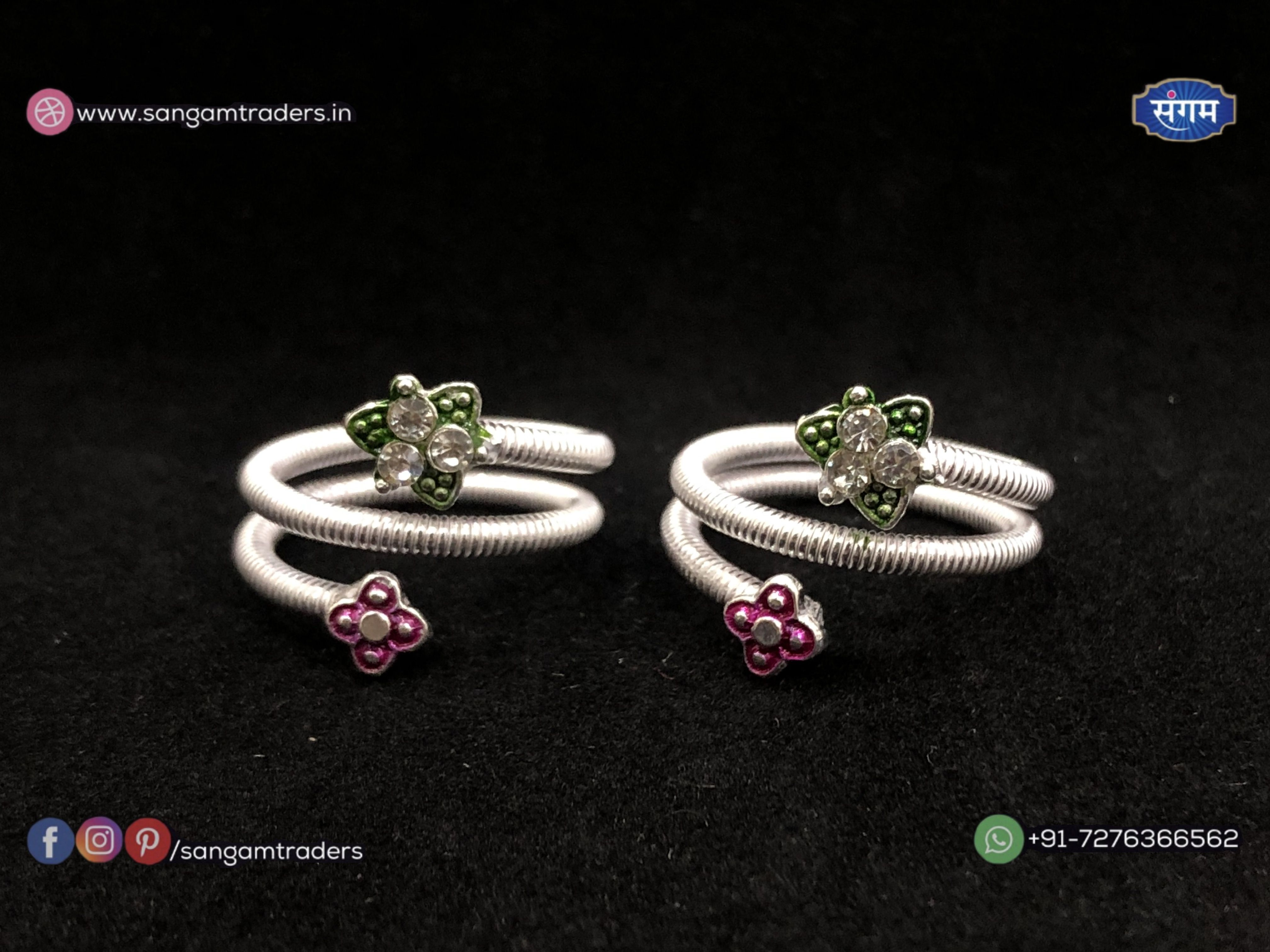 6e4373ac69 Beautiful & latest images of Silver toe rings for foot jewellery which  gives a beautiful look to feet along with anklet. Check out for more bichiya
